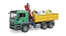 Bruder 3753 MAN TGS s kontejnery na tříděný odpad