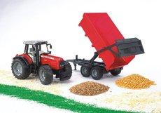 Bruder 2045 Traktor Massey Ferguson 7480 s prívesom