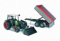 Bruder 2112 Traktor CLAAS Nectis s čelným nakladačom a vozom