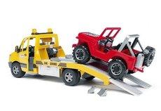 Bruder 2535 Mercedes Benz Sprinter odťahovka s Jeepom