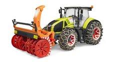 Bruder 3017 Traktor Claas Axion 950 se sněžnou frézou