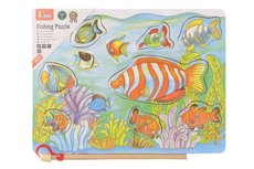 Viga Dřevěné vkládačka rybičky na magnet