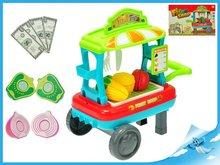 Mikro Trading Vozík ovoce/zelenina pojízdný 23x33x20cm s doplňky v krabičce