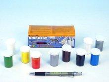 Unikolky modelářské barvy sada 9 barev   matný lak zdarma v krabičce