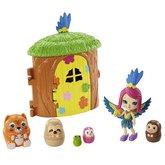 Mattel Enchantimals tajné útočiště nejlepších přátel Peeki Parrot Tree Hut
