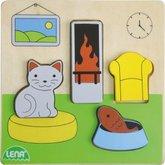 Lena Dřevěné puzzle, obývací pokoj